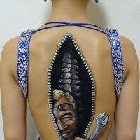 More Creepily Realistic Body Art by Chooo-San