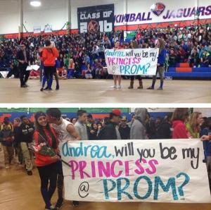 Ask me to prom in front of the whole school